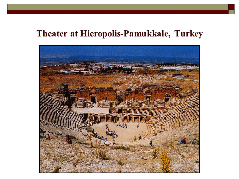 Theater at Hieropolis-Pamukkale, Turkey
