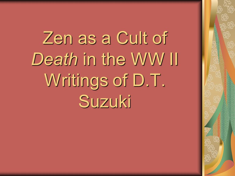 Conclusion (2) Should there be any doubt of this, Suzuki also wrote: Good fighters are generally ascetics or stoics, which means to have an iron will.