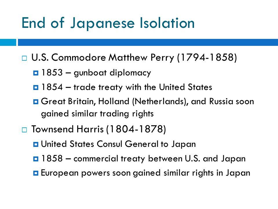 End of Japanese Isolation  U.S.