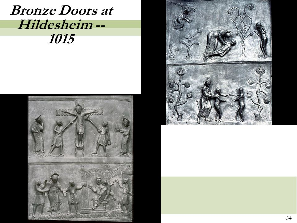 34 Bronze Doors at Hildesheim -- 1015