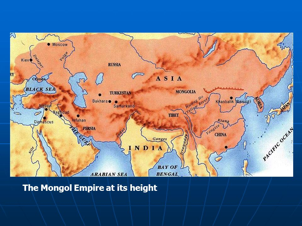 The Mongol Empire at its height