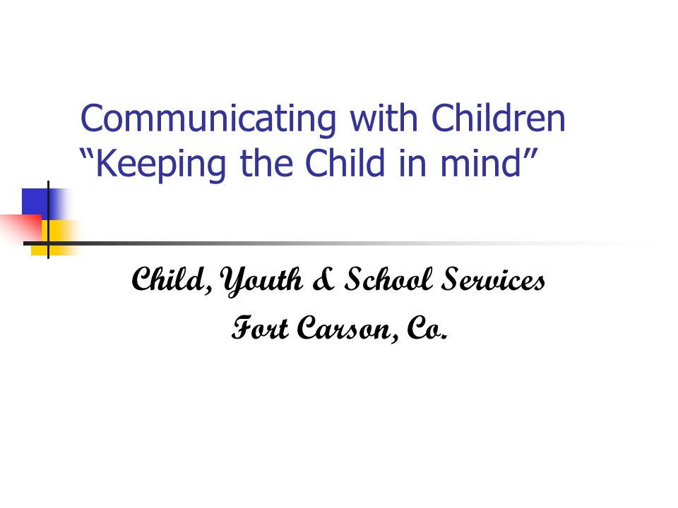Child, Youth & School Services Fort Carson, Co.
