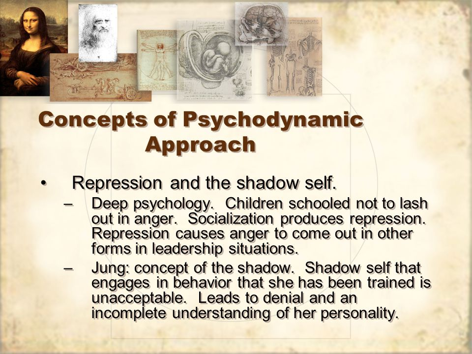 Concepts of Psychodynamic Approach Repression and the shadow self.