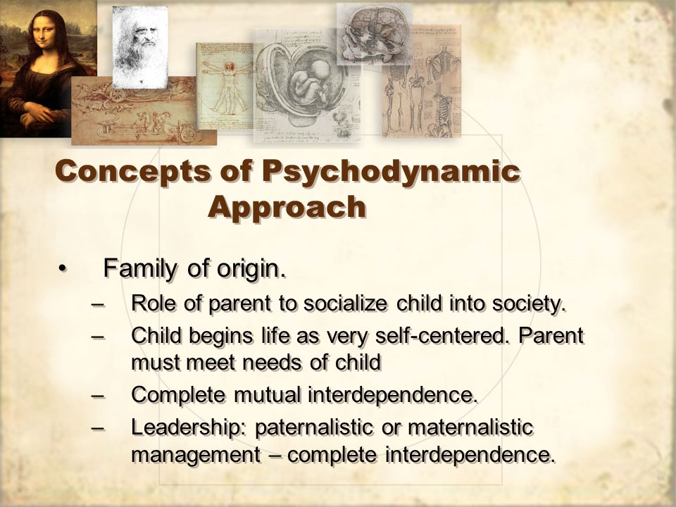 Concepts of Psychodynamic Approach Family of origin.