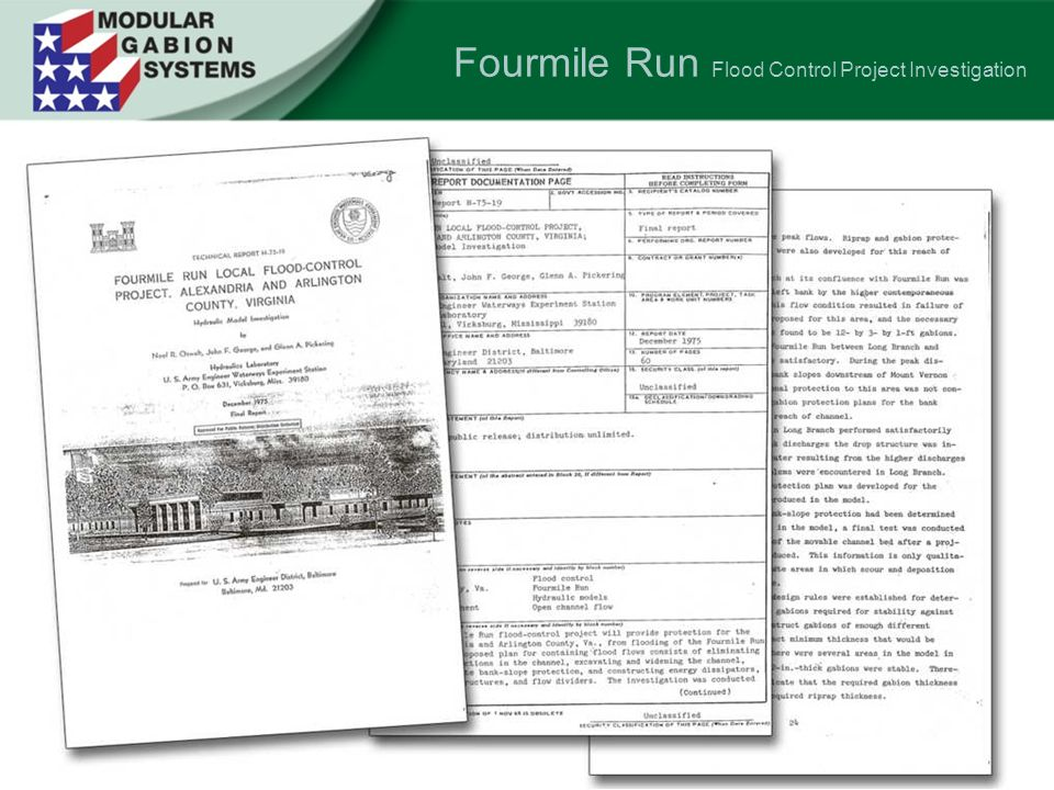 Fourmile Run Flood Control Project Investigation