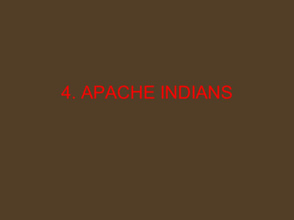 4. APACHE INDIANS