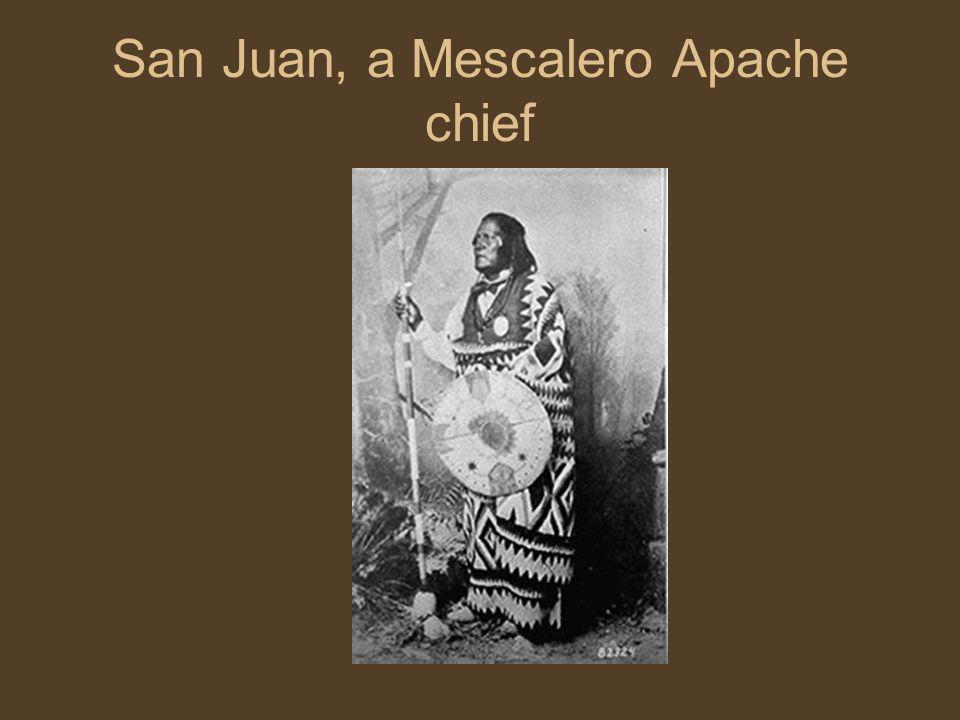 San Juan, a Mescalero Apache chief