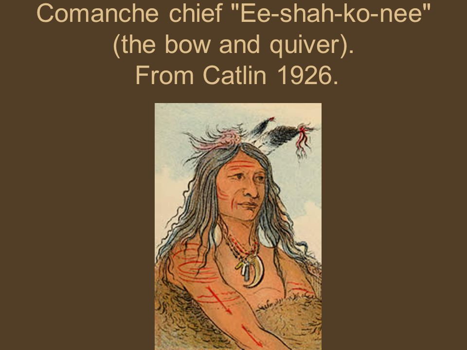 Comanche chief Ee-shah-ko-nee (the bow and quiver). From Catlin 1926.