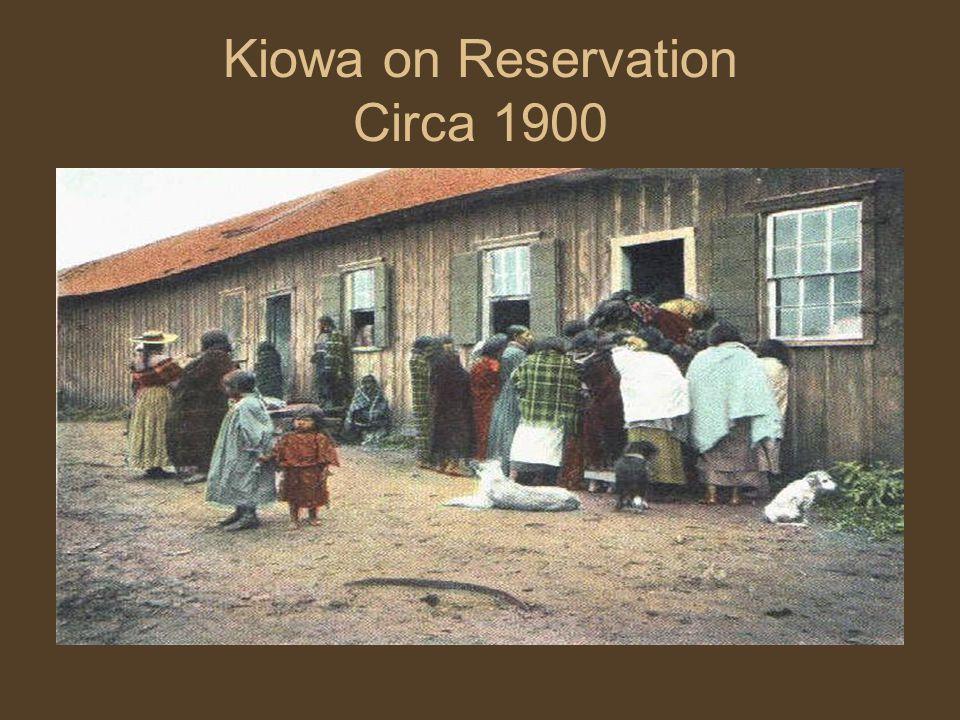 Kiowa on Reservation Circa 1900