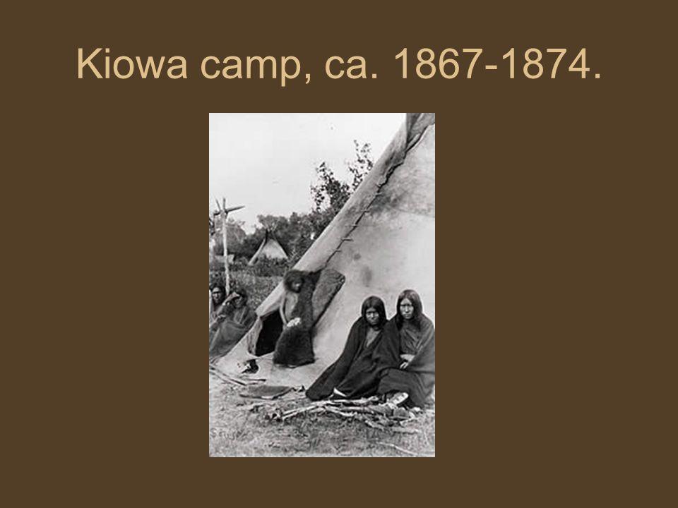 Kiowa camp, ca. 1867-1874.