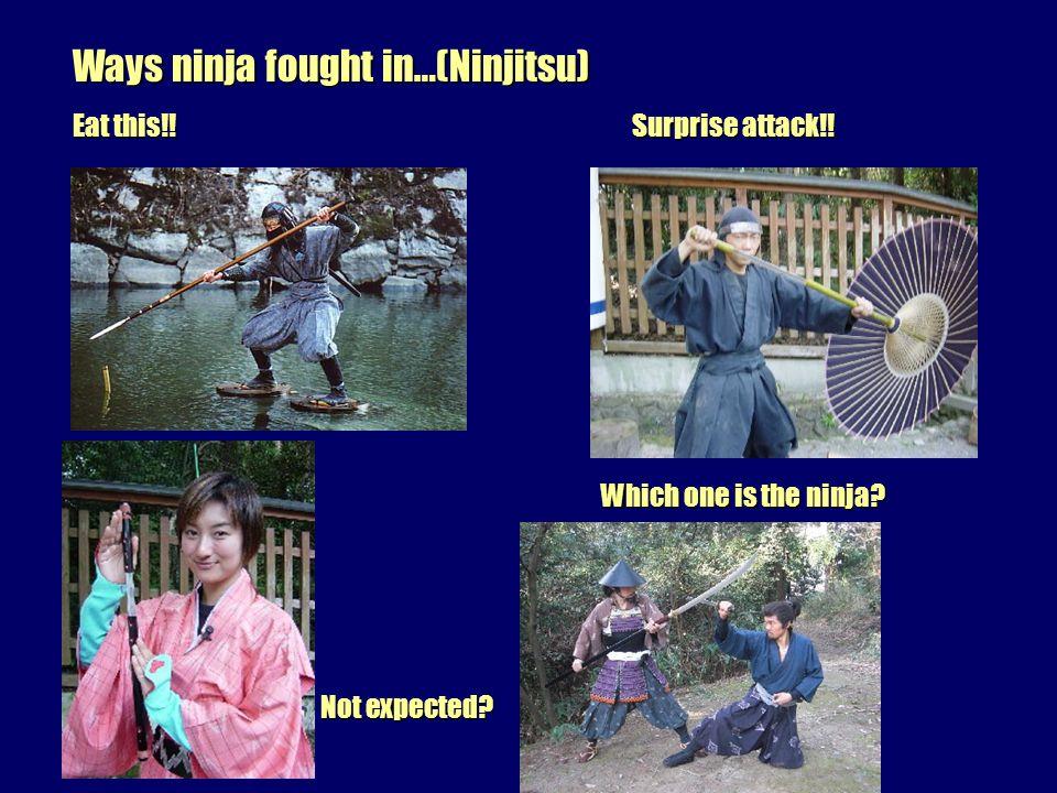 Weapons of Ninja/Shinobi Samurai swords Kunai Shuriken Scythe Shuriken Scythe