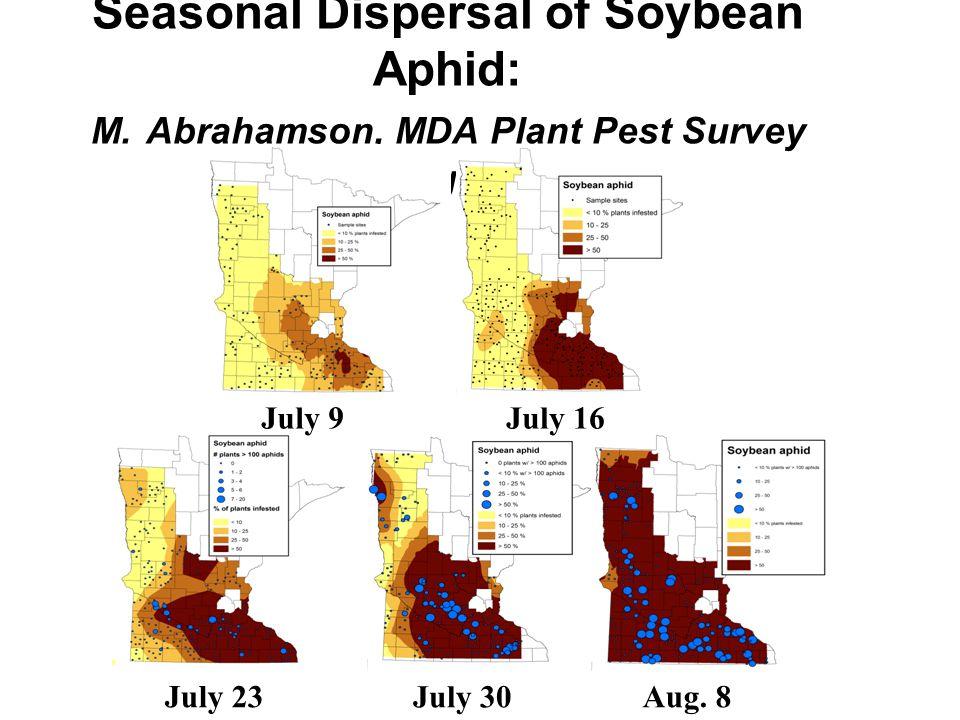 Seasonal Dispersal of Soybean Aphid: M.