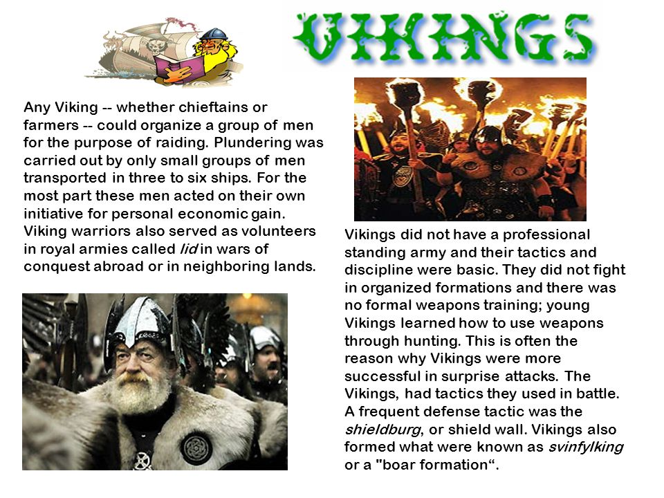 Any Viking -- whether chieftains or farmers -- could organize a group of men for the purpose of raiding.