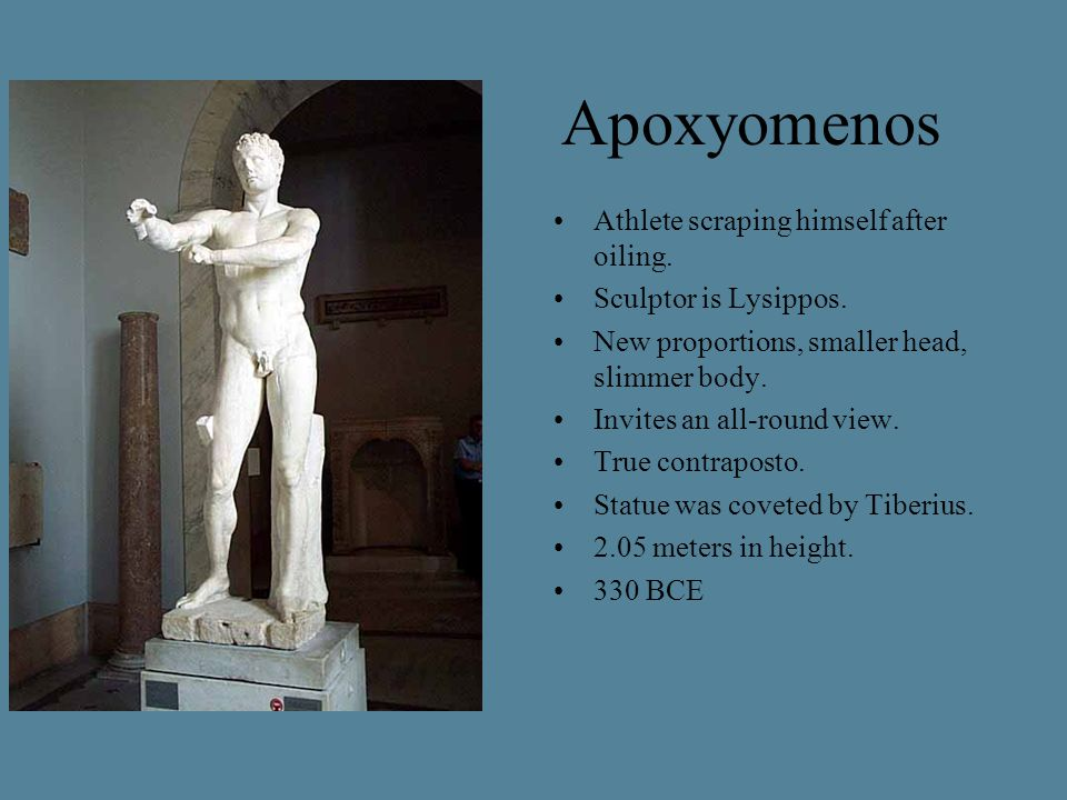 Apoxyomenos Athlete scraping himself after oiling.