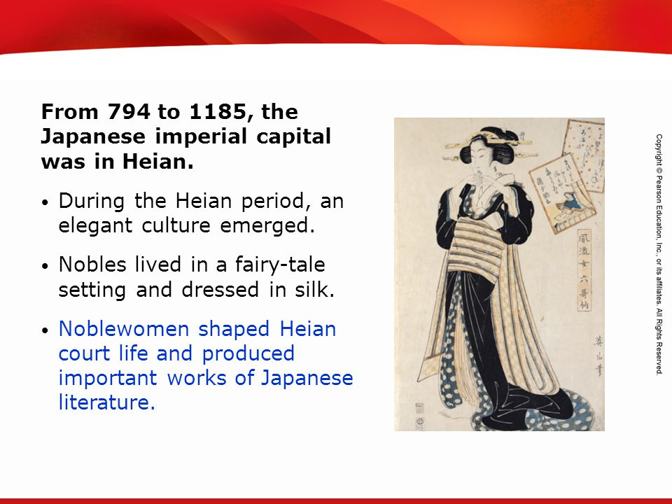 TEKS 8C: Calculate percent composition and empirical and molecular formulas. From 794 to 1185, the Japanese imperial capital was in Heian. During the