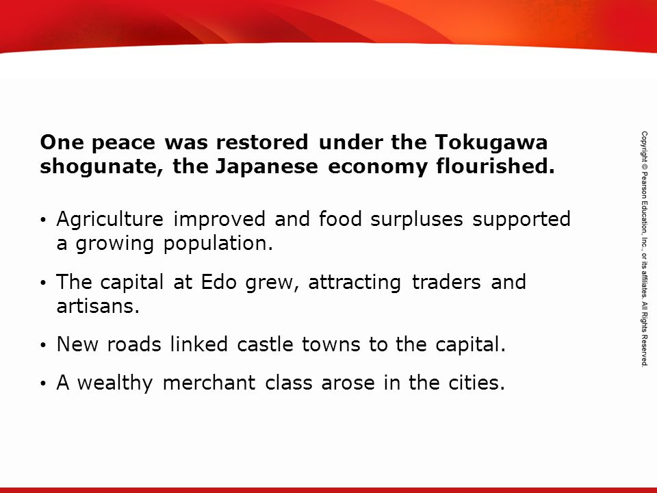TEKS 8C: Calculate percent composition and empirical and molecular formulas. One peace was restored under the Tokugawa shogunate, the Japanese economy