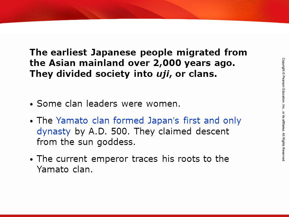 TEKS 8C: Calculate percent composition and empirical and molecular formulas. The earliest Japanese people migrated from the Asian mainland over 2,000