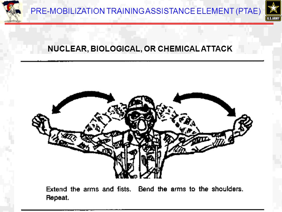 PRE-MOBILIZATION TRAINING ASSISTANCE ELEMENT (PTAE) NUCLEAR, BIOLOGICAL, OR CHEMICAL ATTACK