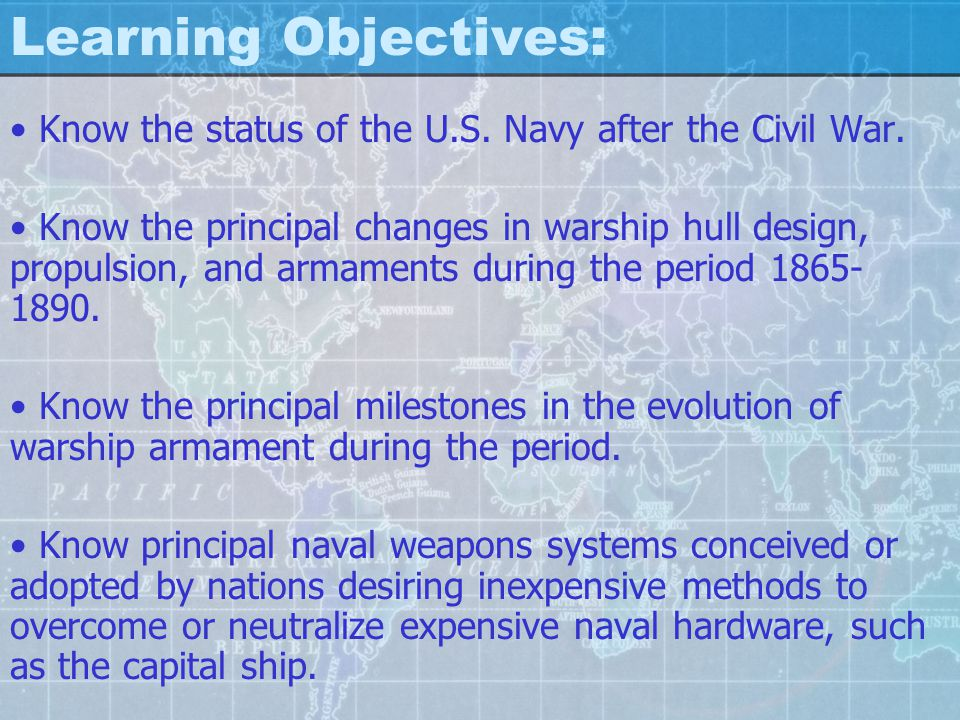 Learning Objectives: Know the technological responses of the major naval powers to counter the threats of low cost weapons.