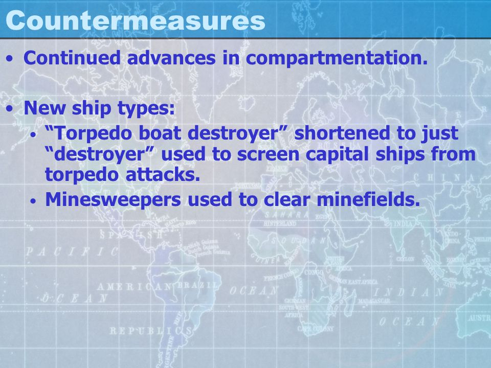 Countermeasures Continued advances in compartmentation.