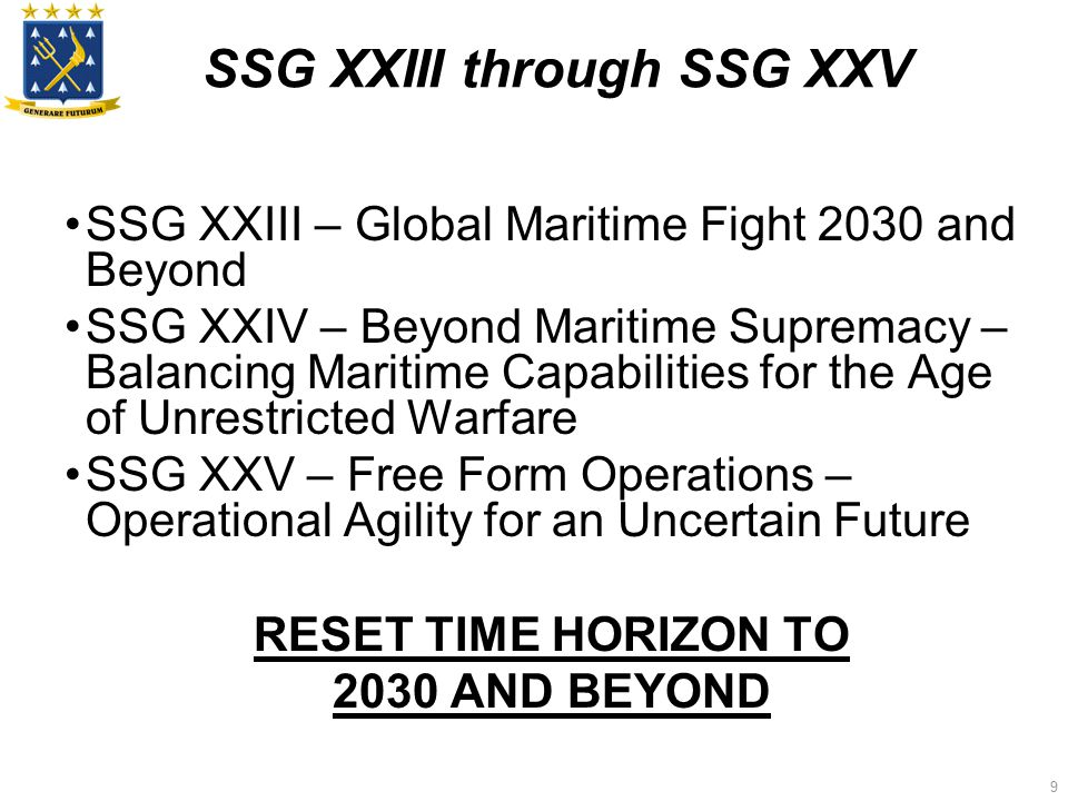 10 CNO Tasking to SSG XXVI Examine fighting in cyberspace in 2030 .