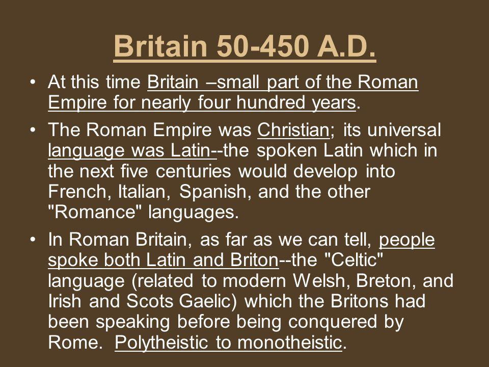 Britain 50-450 A.D.