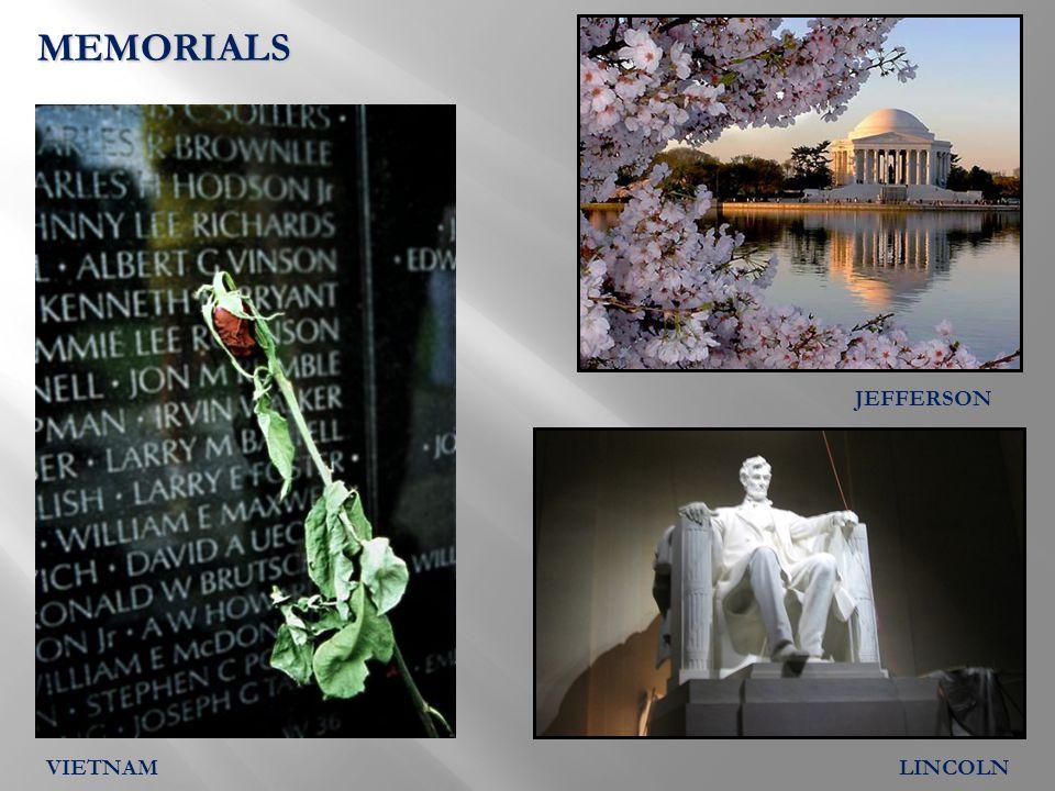 MEMORIALS JEFFERSON LINCOLNVIETNAM