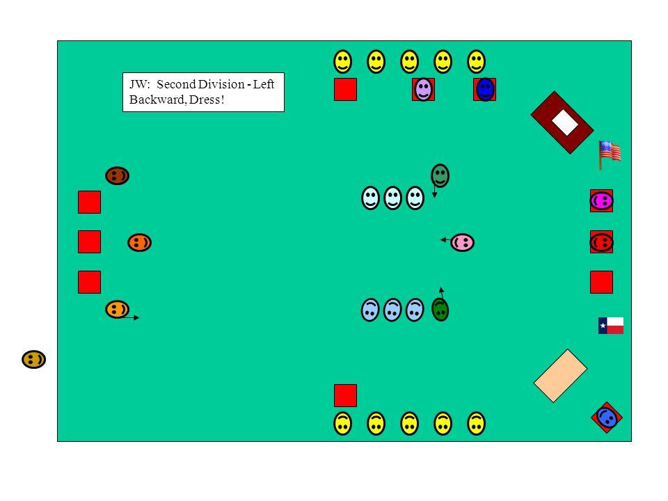 JW: Second Division - Left Backward, Dress!