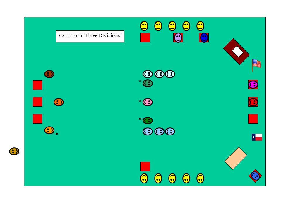 CG: Form Three Divisions!