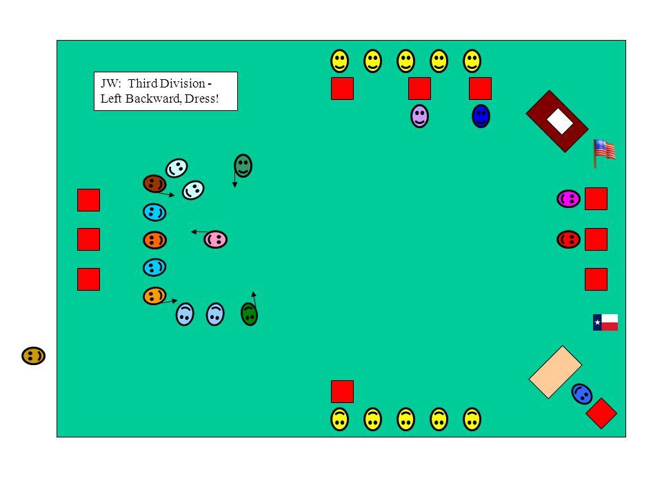 JW: Third Division - Left Backward, Dress!