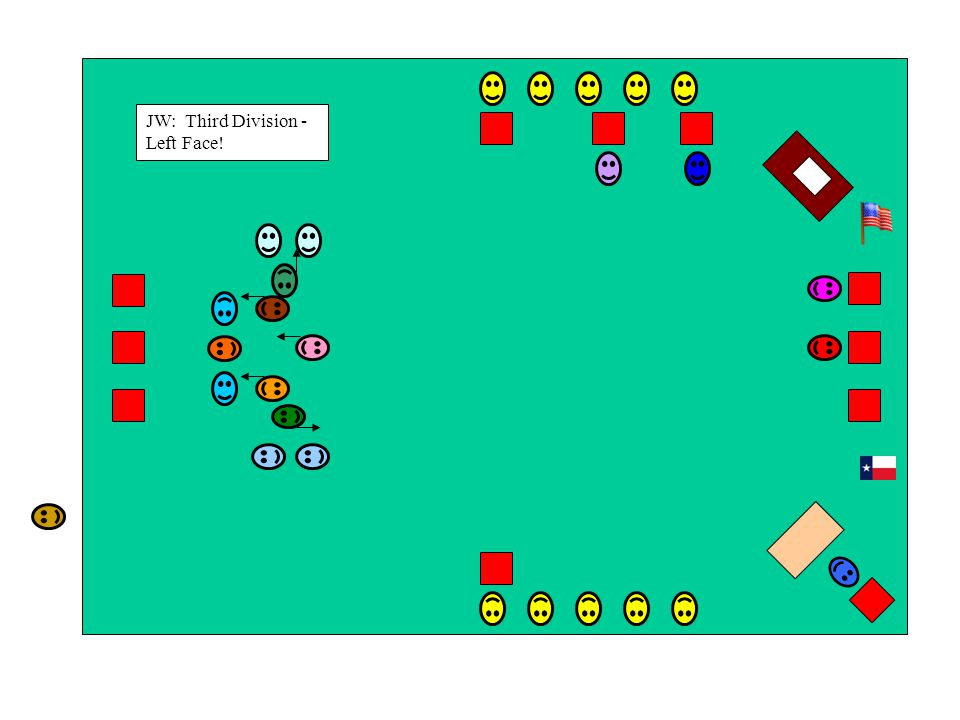 JW: Third Division - Left Face!