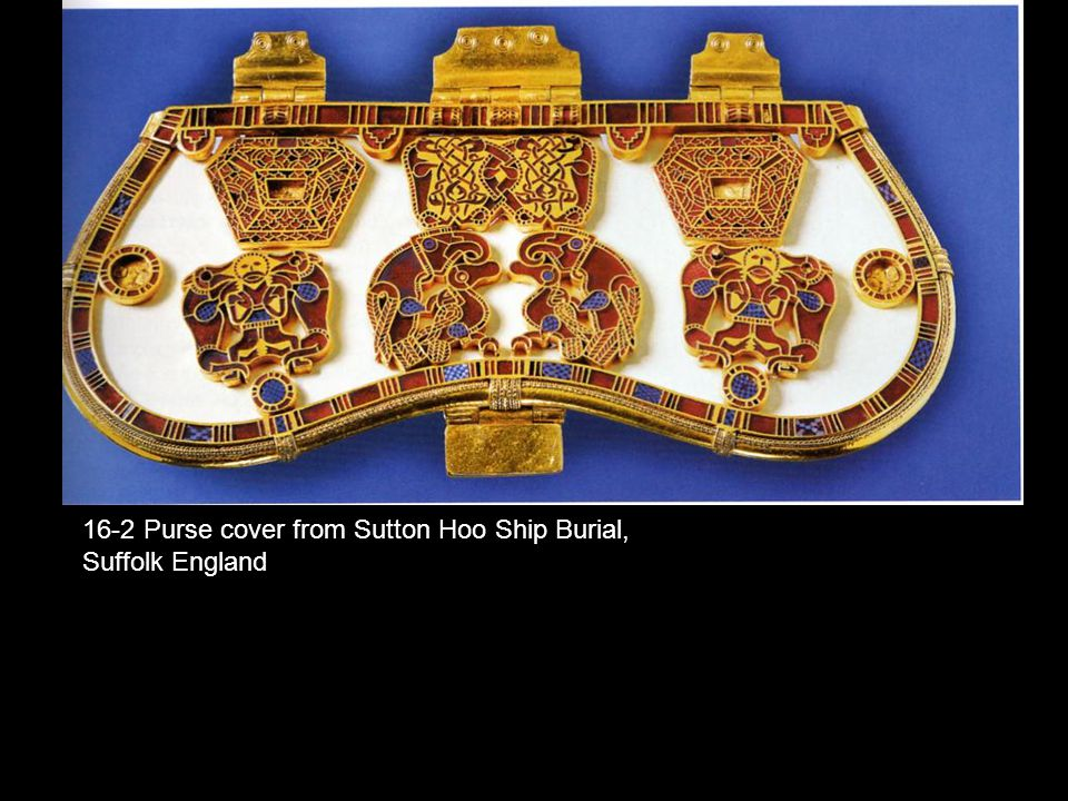 16-2 Purse cover from Sutton Hoo Ship Burial, Suffolk England
