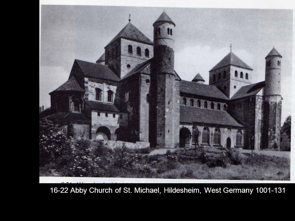 16-22 Abby Church of St. Michael, Hildesheim, West Germany 1001-131