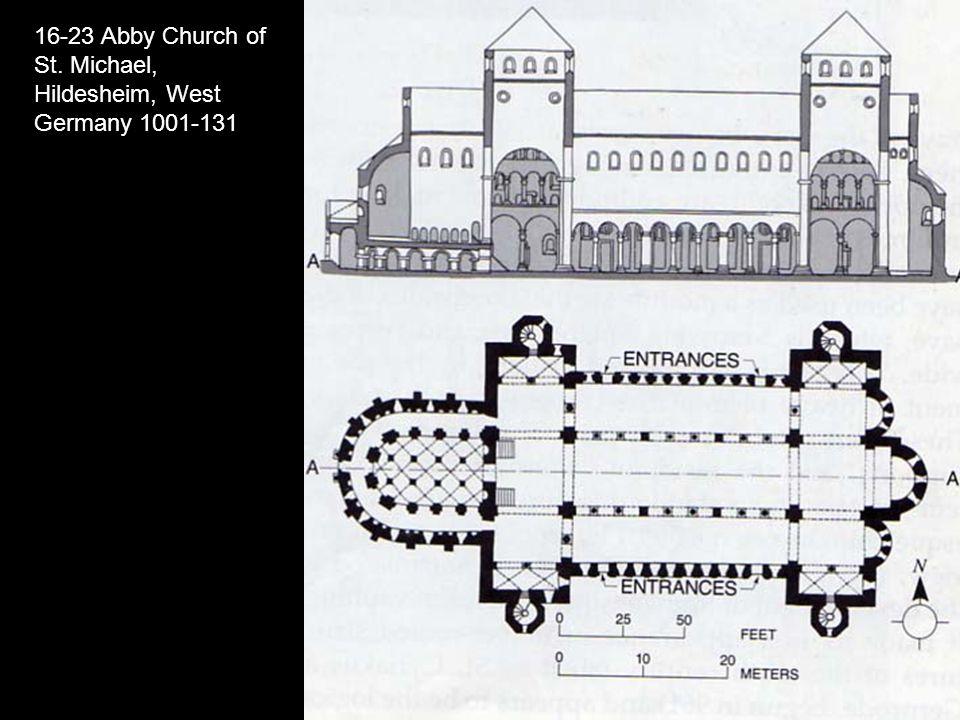16-23 Abby Church of St. Michael, Hildesheim, West Germany 1001-131