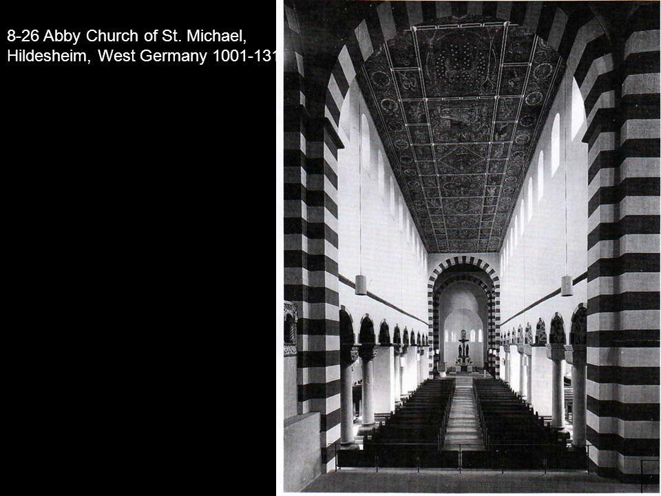 8-26 Abby Church of St. Michael, Hildesheim, West Germany 1001-131