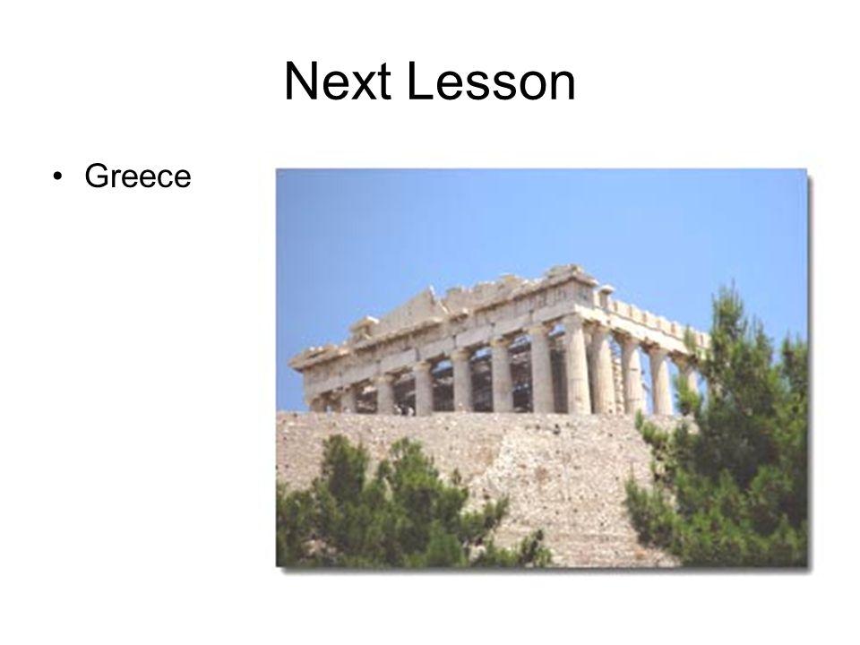 Next Lesson Greece