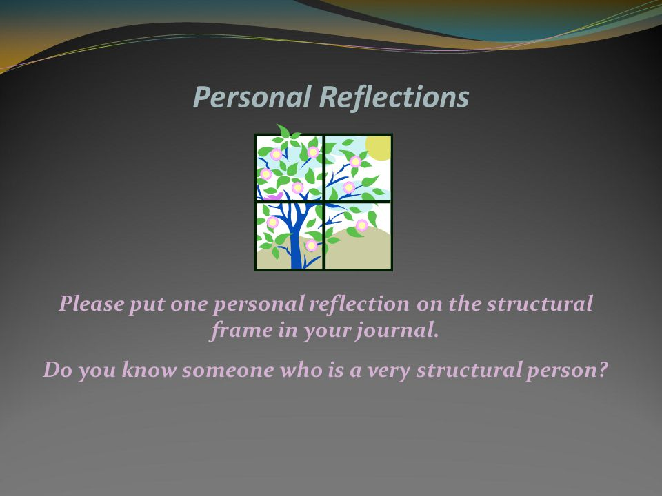 Personal Reflections When you are new to an organization, look at the structural problems first.