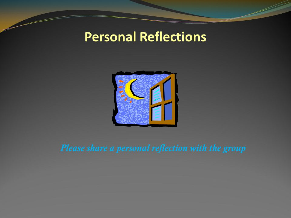 Personal Reflections Please put one personal reflection on the Political Frame in your journal.