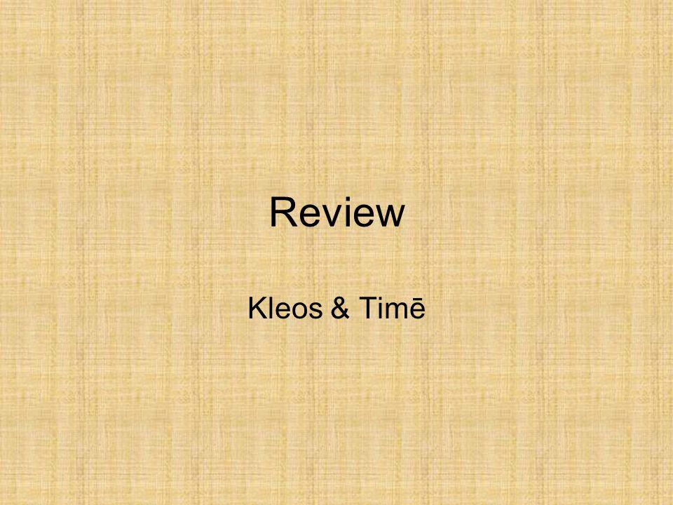 Review Kleos & Timē