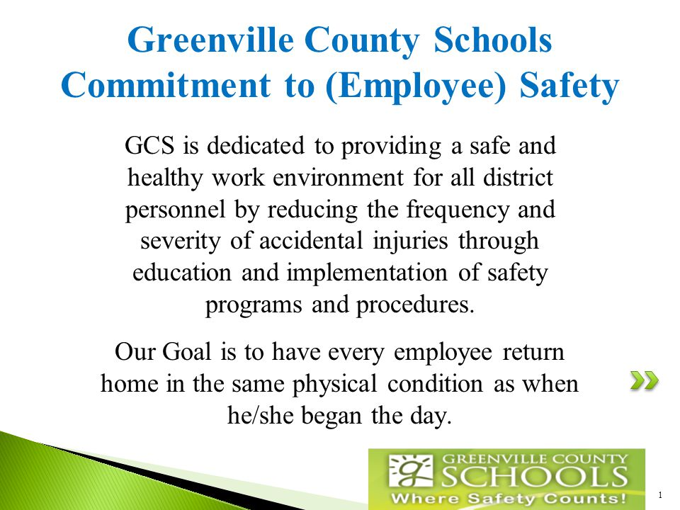  Safe Schools Mandatory Courses  Other (Non-Employee) accidents/incidents  Safety Award  School Nurse  Reporting an Employee Injury – www.gcswc.uswww.gcswc.us 2