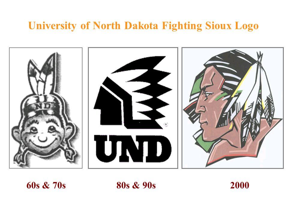 60s & 70s 80s & 90s 2000 University of North Dakota Fighting Sioux Logo