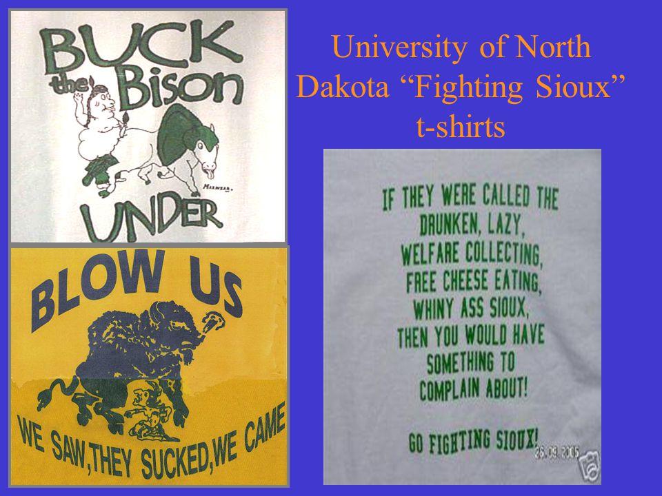 "University of North Dakota ""Fighting Sioux"" t-shirts"