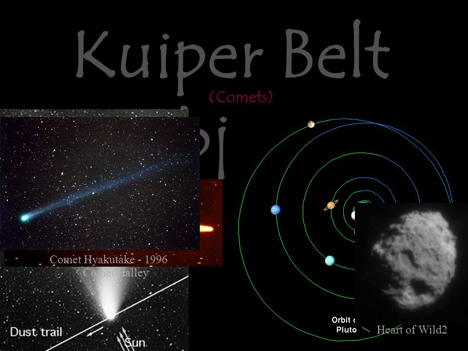 Kuiper Belt Objects Edge of the System Comet Halley Comet Hyakutake - 1996 Heart of Wild2 (Comets)