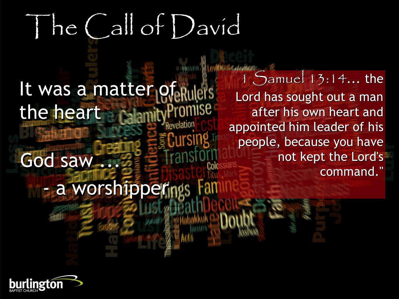 1 Samuel 13:14...