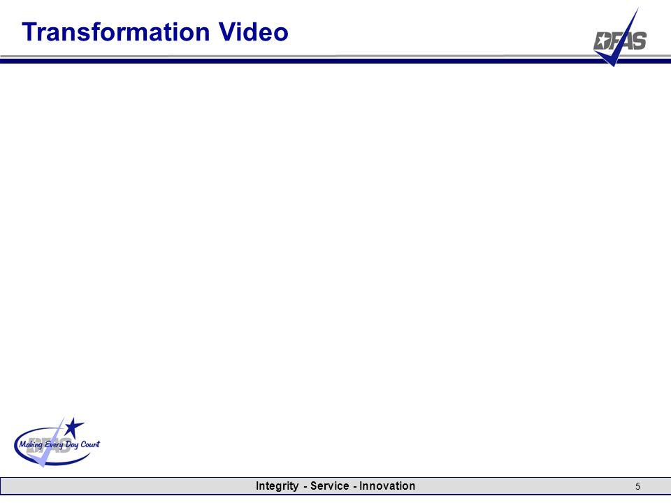 Integrity - Service - Innovation 5 Transformation Video