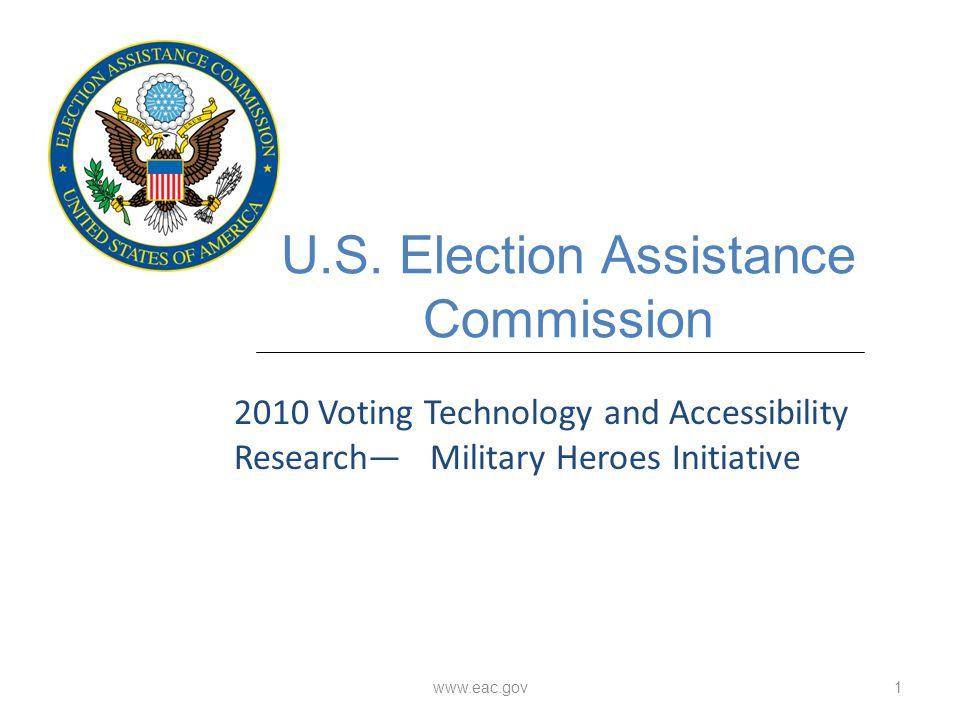 www.eac.gov1 U.S.