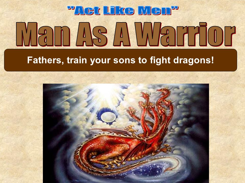 Fathers, train your sons to fight dragons!