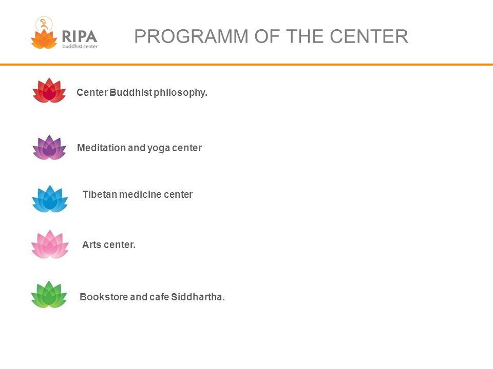 PROGRAMM OF THE CENTER Center Buddhist philosophy.