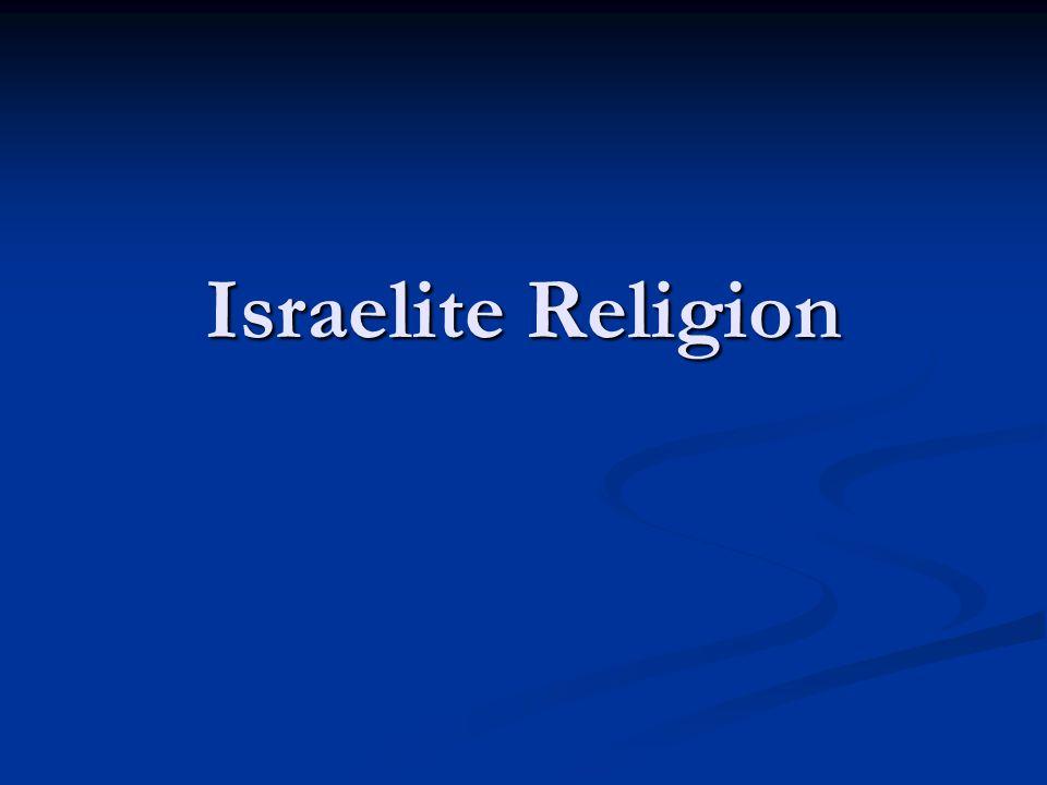Israelite Religion
