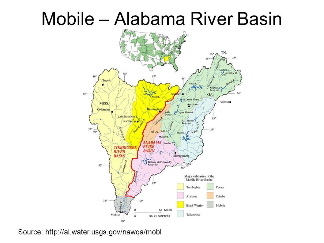 Source: http://al.water.usgs.gov/nawqa/mobl Mobile – Alabama River Basin